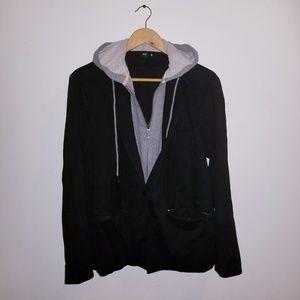 Sweatshirt blazer combination